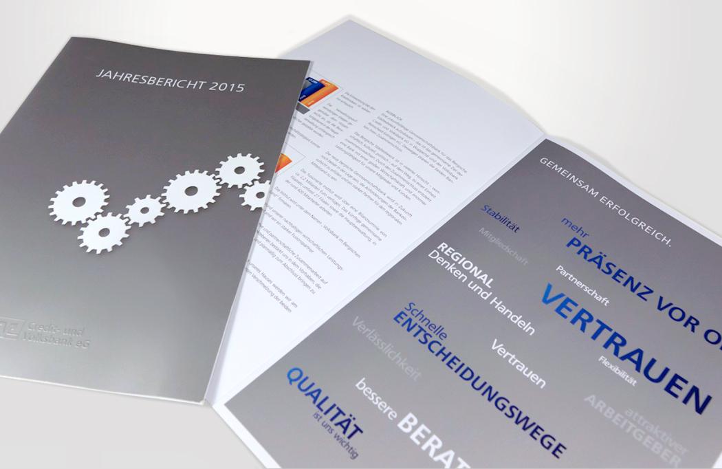 Printprojekte Volksbank
