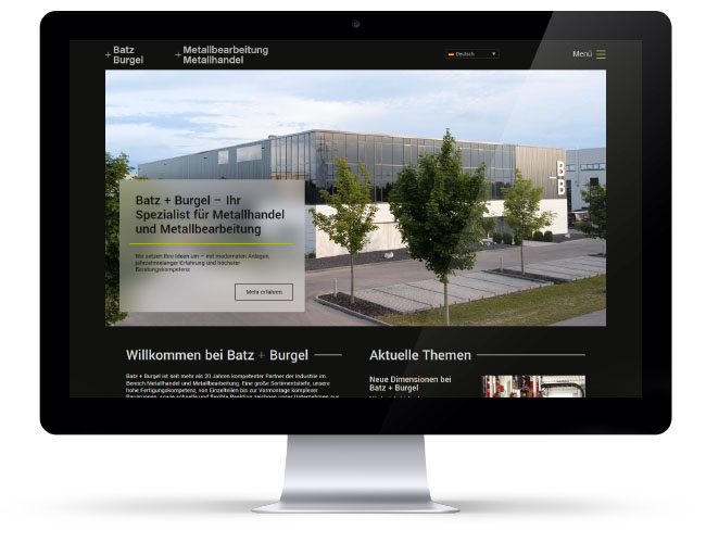 Webseite Metallhandel