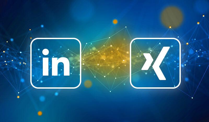 logos xing linkedin