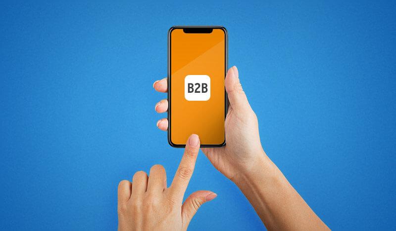 smartphone mit orangenem hintergrund