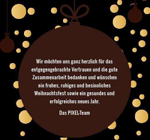 pixelproduction weihnachtsgrüße 2019